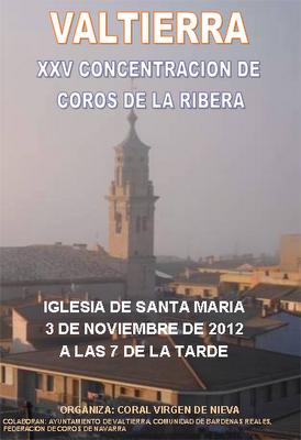 Cartel concentracion de corales en Valtierra 3/11/2012