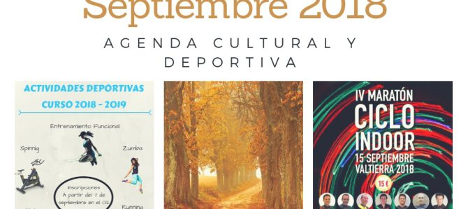AGENDA DE SEPTIEMBRE 2018