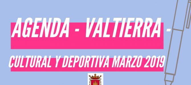 AGENDA CULTURAL Y DEPORTIVA MARZO 2019 – VALTIERRA –