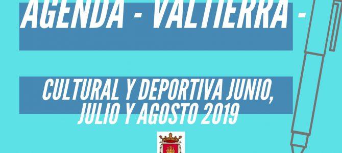 Agenda Junio, Julio y Agosto 2019 Valtierra