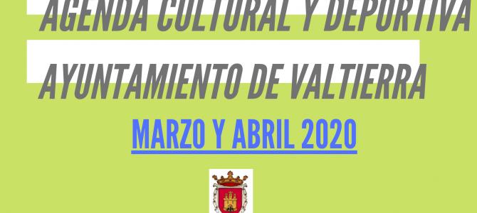 Agenda Marzo  y Abril 2020