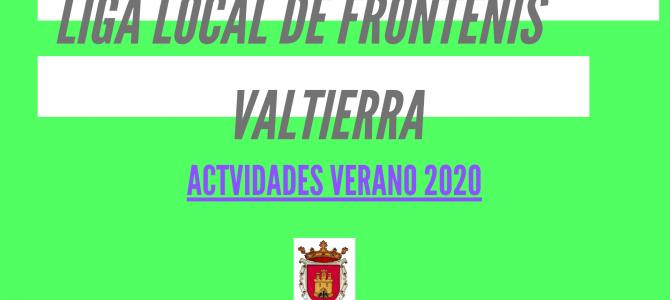 Liga Local de frontenis en Valtierra 2020